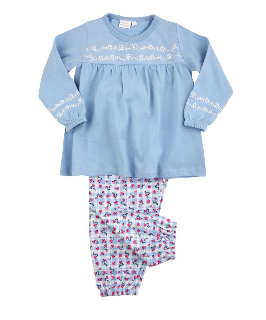 Image for Girls Floral Cotton Pyjamas