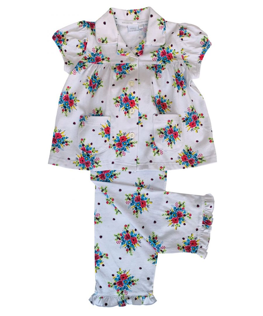 Image for Floral Bouquet print Traditional Floral Pyjama for girls