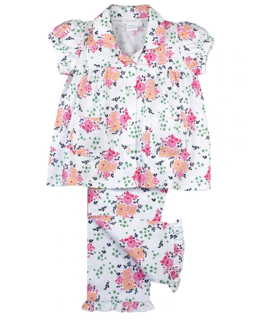 Image for Jersey Floral Traditional Cotton Pyjamas