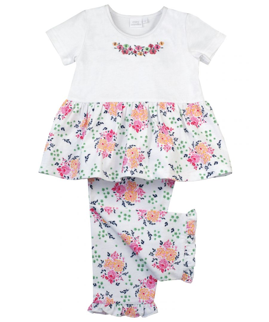 Image for Jersey Floral Summer Cotton Pyjamas