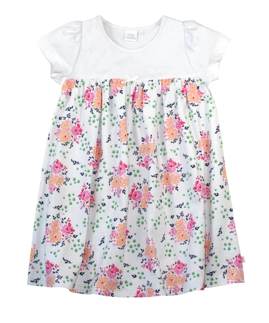 Image for Girls Floral Cotton Summer Night-Dress