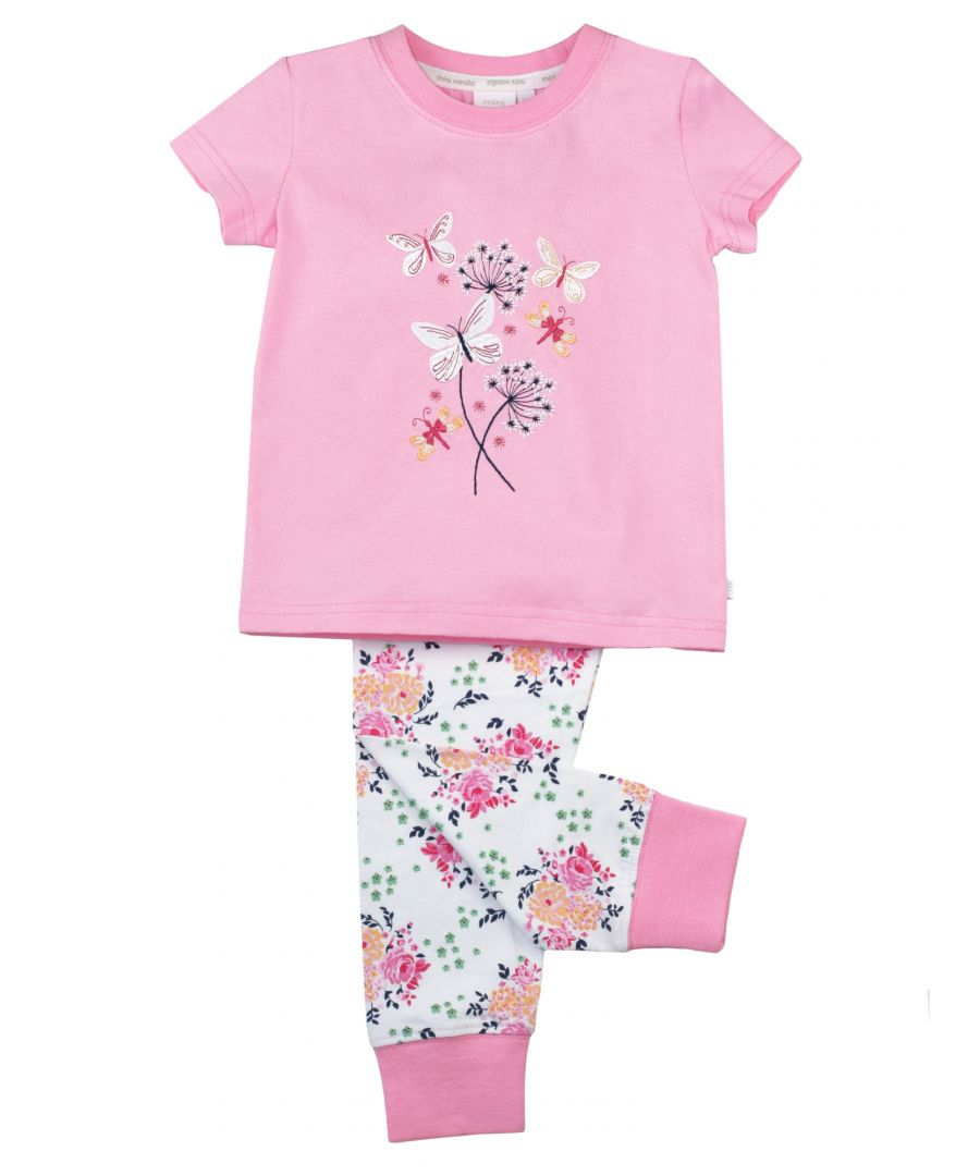 Image for Girls Skinny Fit Floral Cotton Pyjamas