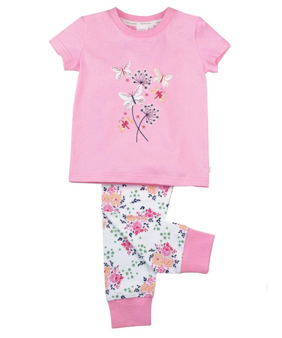 Image for Girls Skinny Fit Floral Cotton Pyjamas