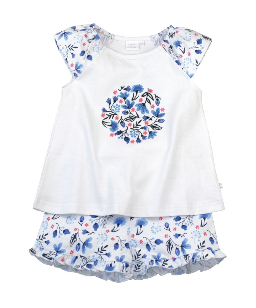 Image for Jersey Floral Shortie Cotton Pyjamas