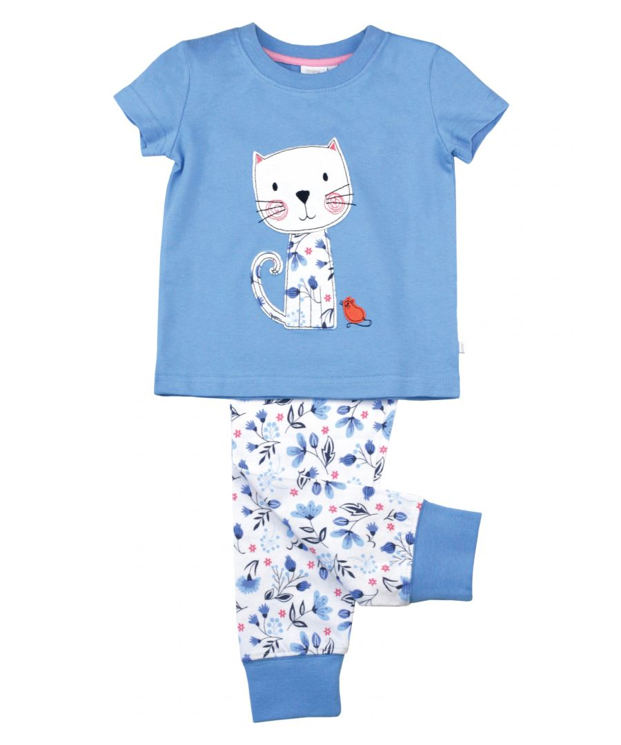 Image for Girls Skinny Fit Cat Cotton Pyjamas