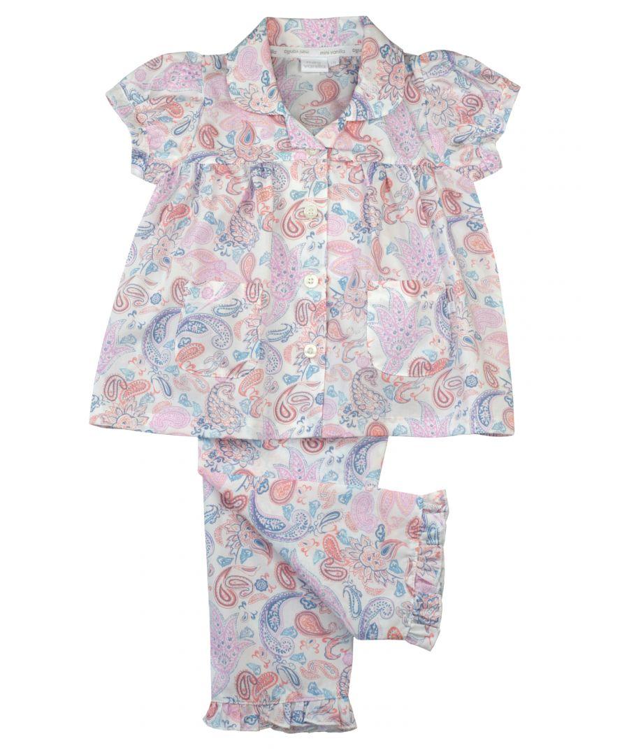 Image for Girls Woven Paisley Print Cotton PJ's