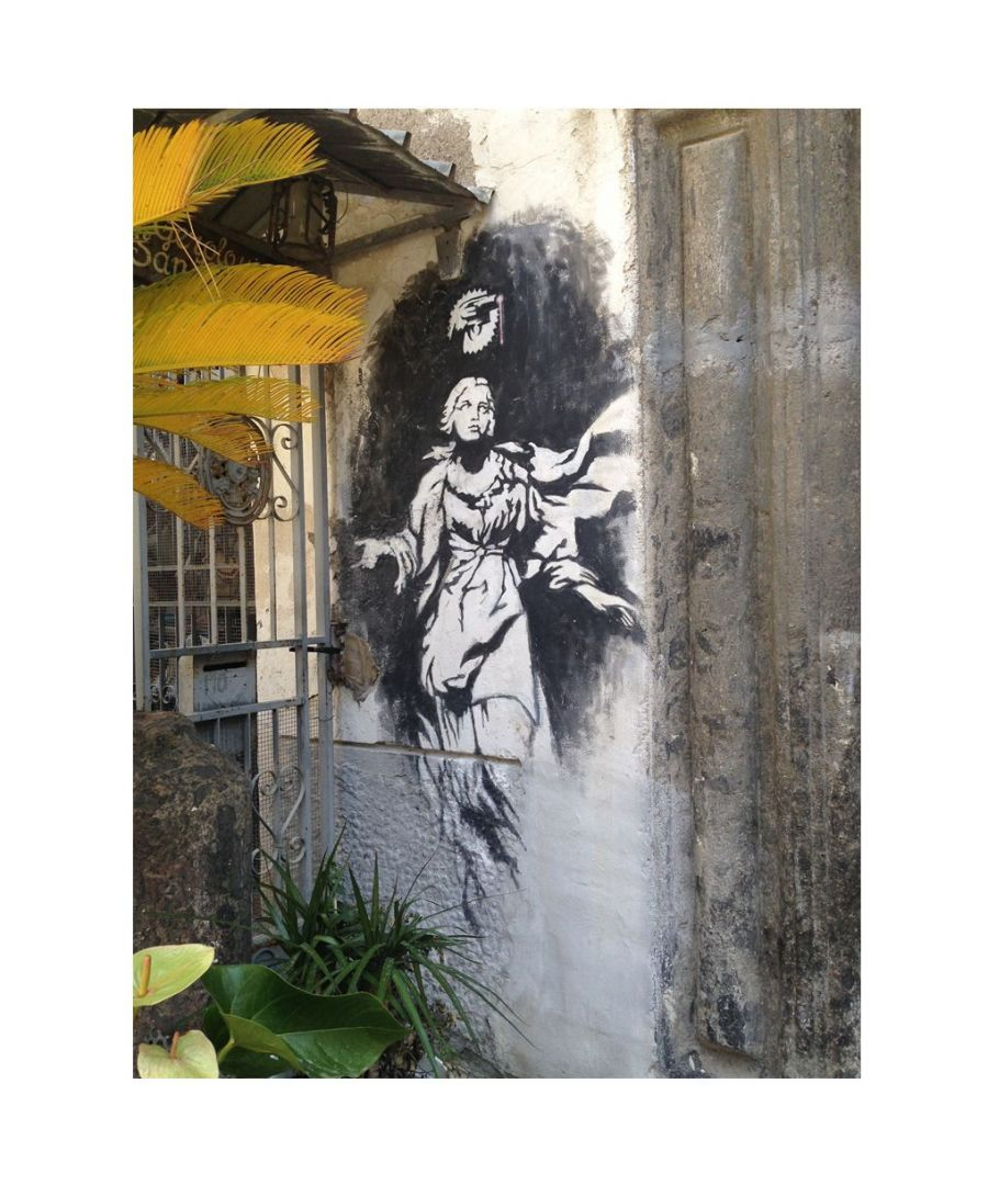 Image for Canvas Print - Madonna with the Gun in Naples, Banksy cm. 60x80