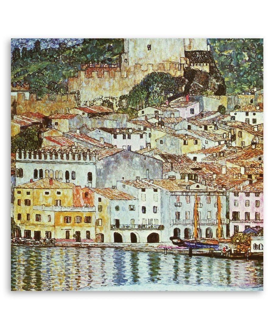 Image for Canvas Print - Malcesine On Lake Garda - Gustav Klimt - Wall Art Decor
