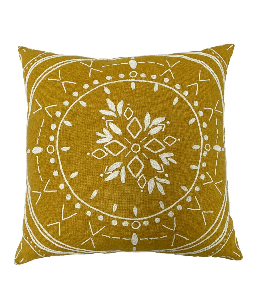 Image for Mandala 45X45 Poly Cushion Ochre