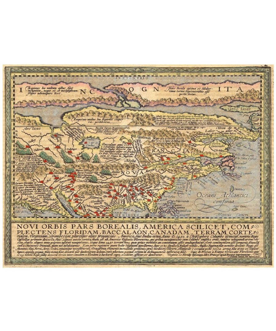 Image for Canvas Print - Old Atlas Map No. 1
