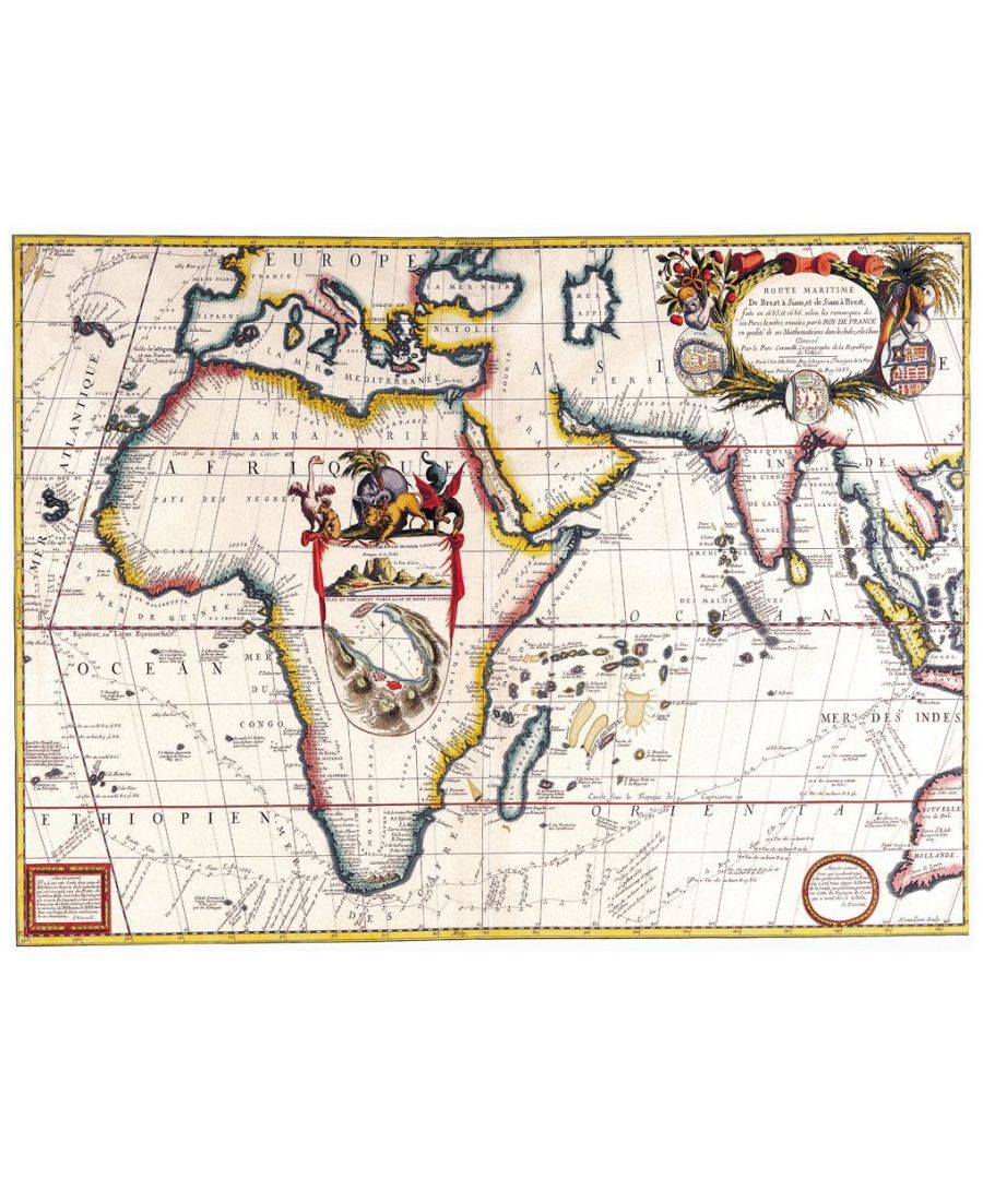 Image for Canvas Print - Old Atlas Map No. 18