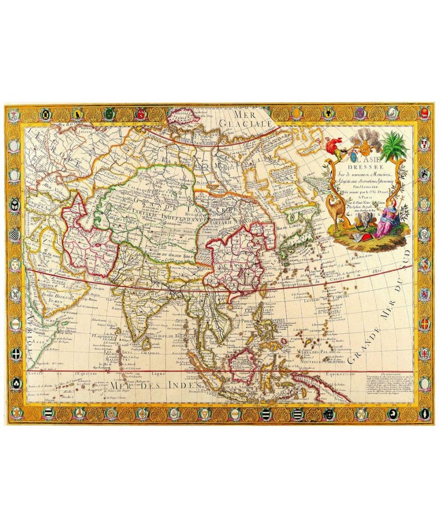 Image for Canvas Print - Old Atlas Map No. 2