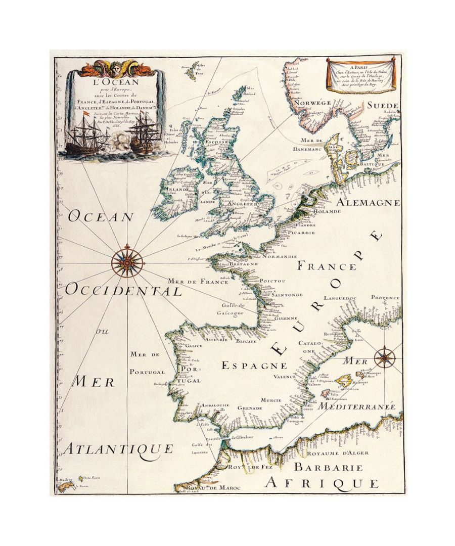 Image for Canvas Print - Old Atlas Map No. 5