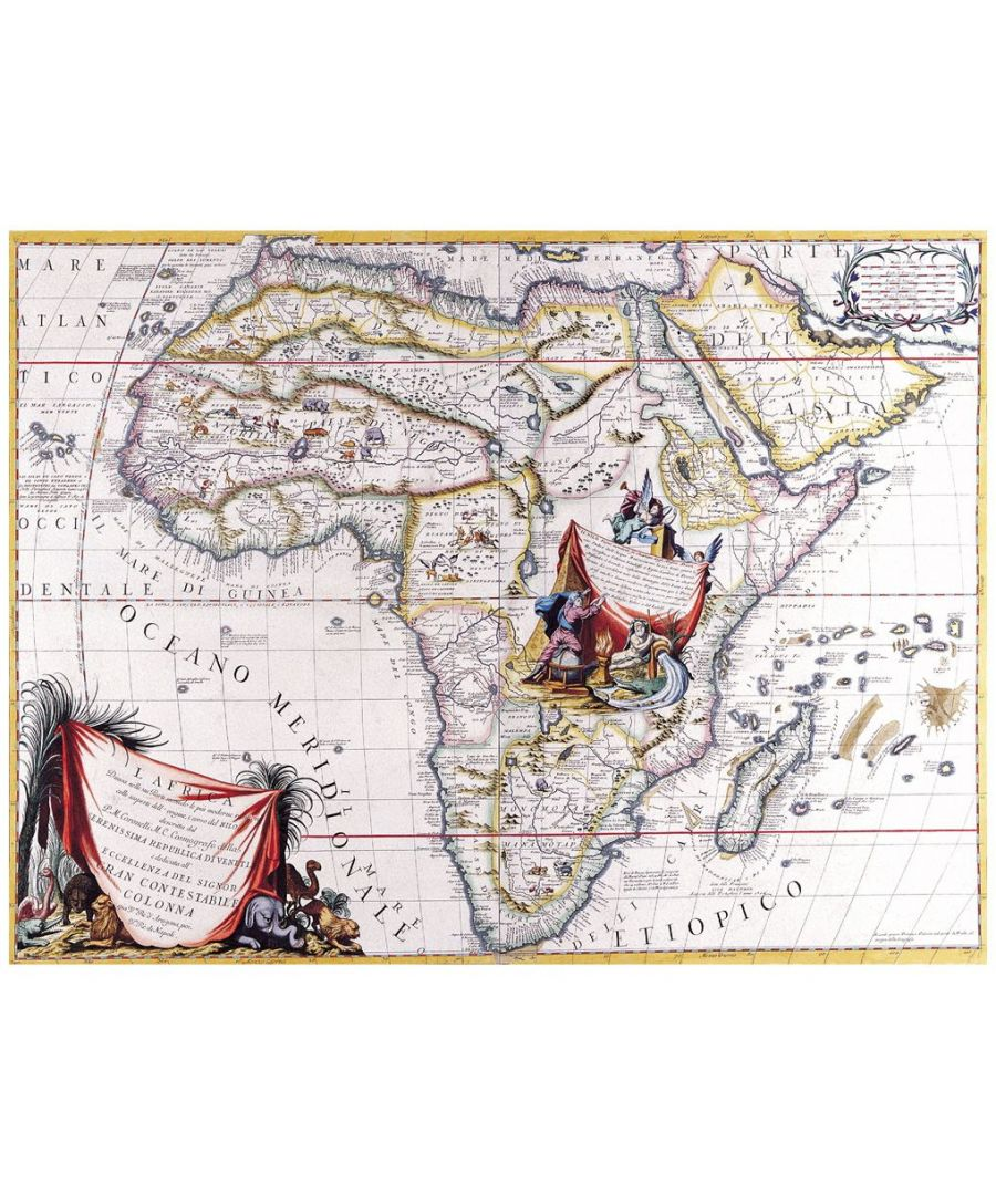 Image for Canvas Print - Old Atlas Map No. 6