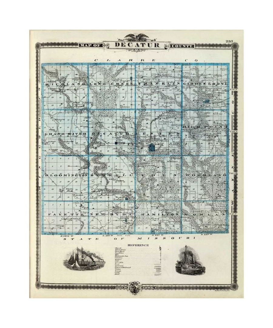 Image for Canvas Print - Old Atlas Map No. 66