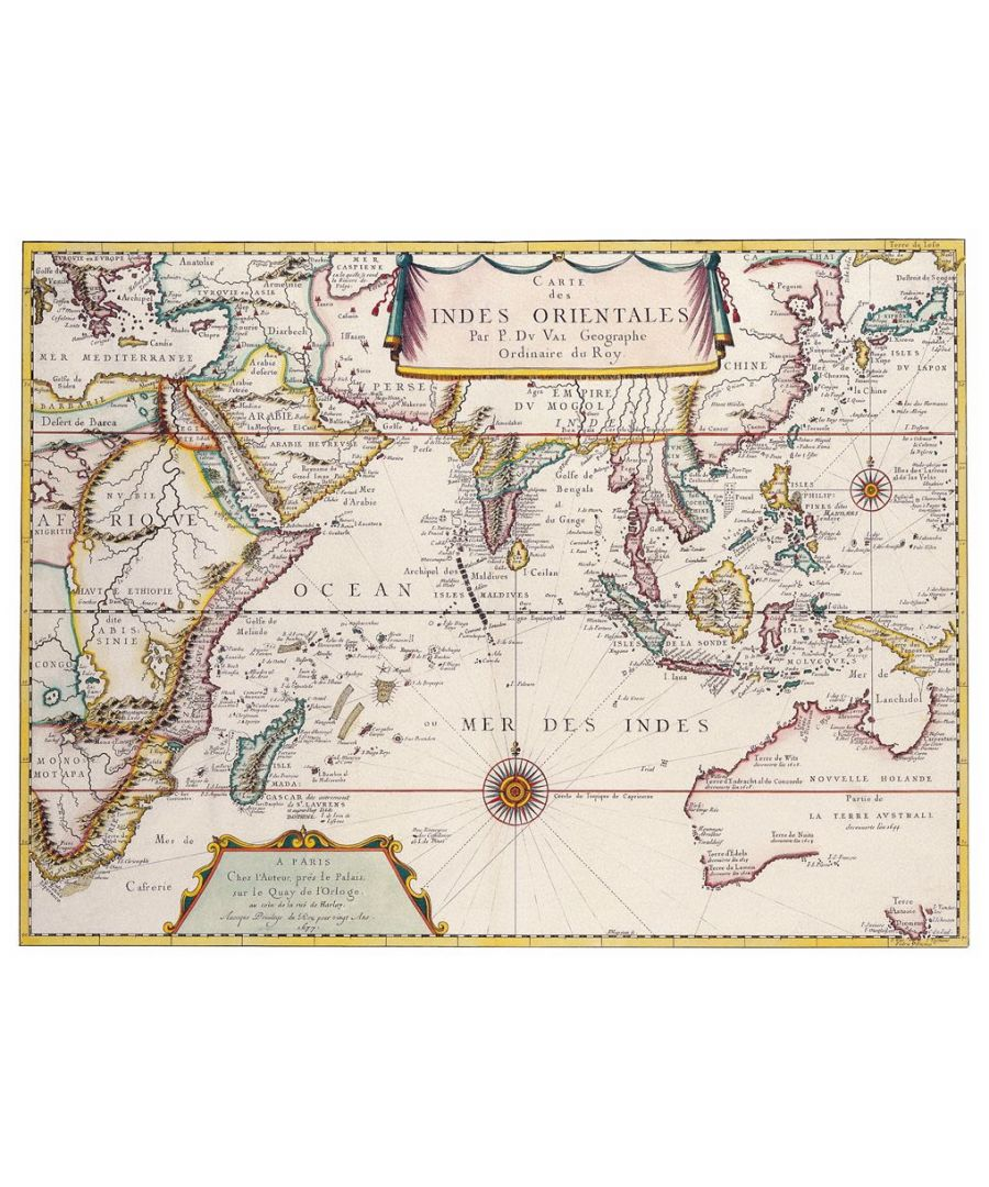 Image for Canvas Print - Old Atlas Map No. 7