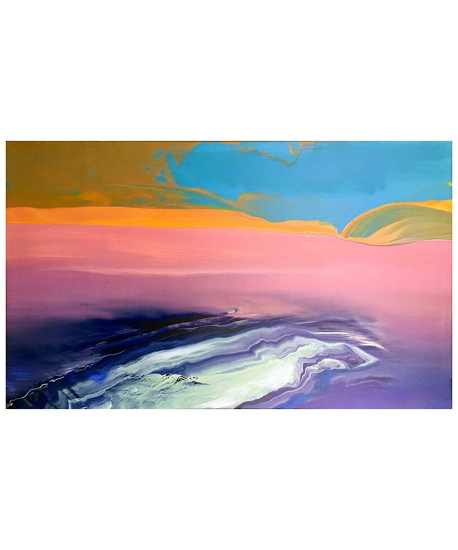 Image for Canvas Print - Coloured Tide Cm. 60x100