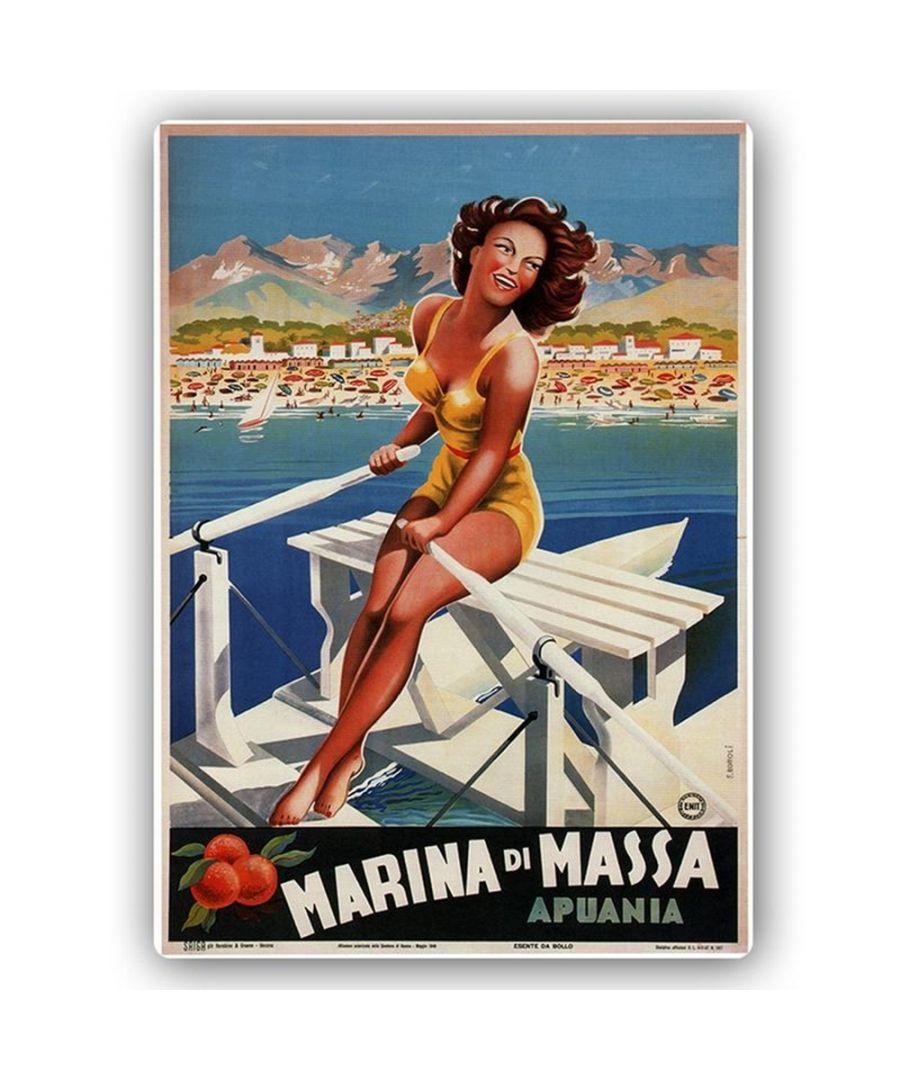 Image for Vintage Tourist Poster - Metal Print  - Marina Di Massa