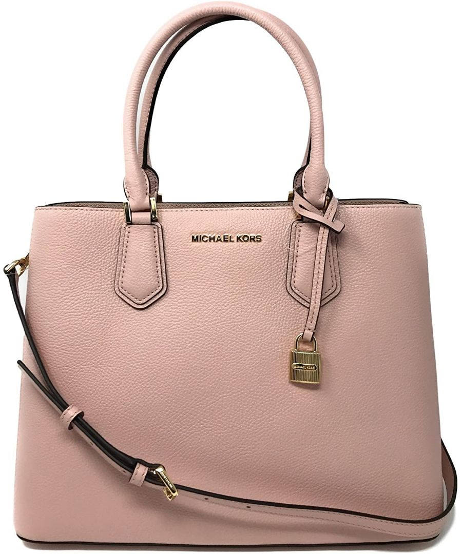 Image for Michael Kors Adele Pebbled Leather Medium Messenger Bag