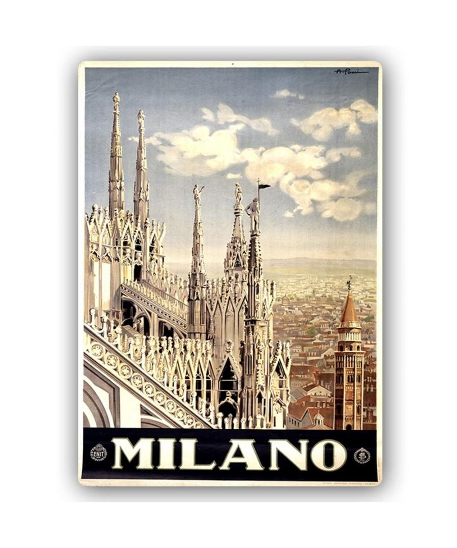 Image for Vintage Tourist Poster - Metal Print  - Milano
