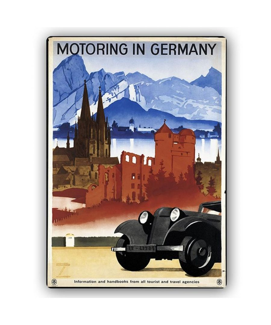 Image for Vintage Tourist Poster - Metal Print  - Motoring In Germany