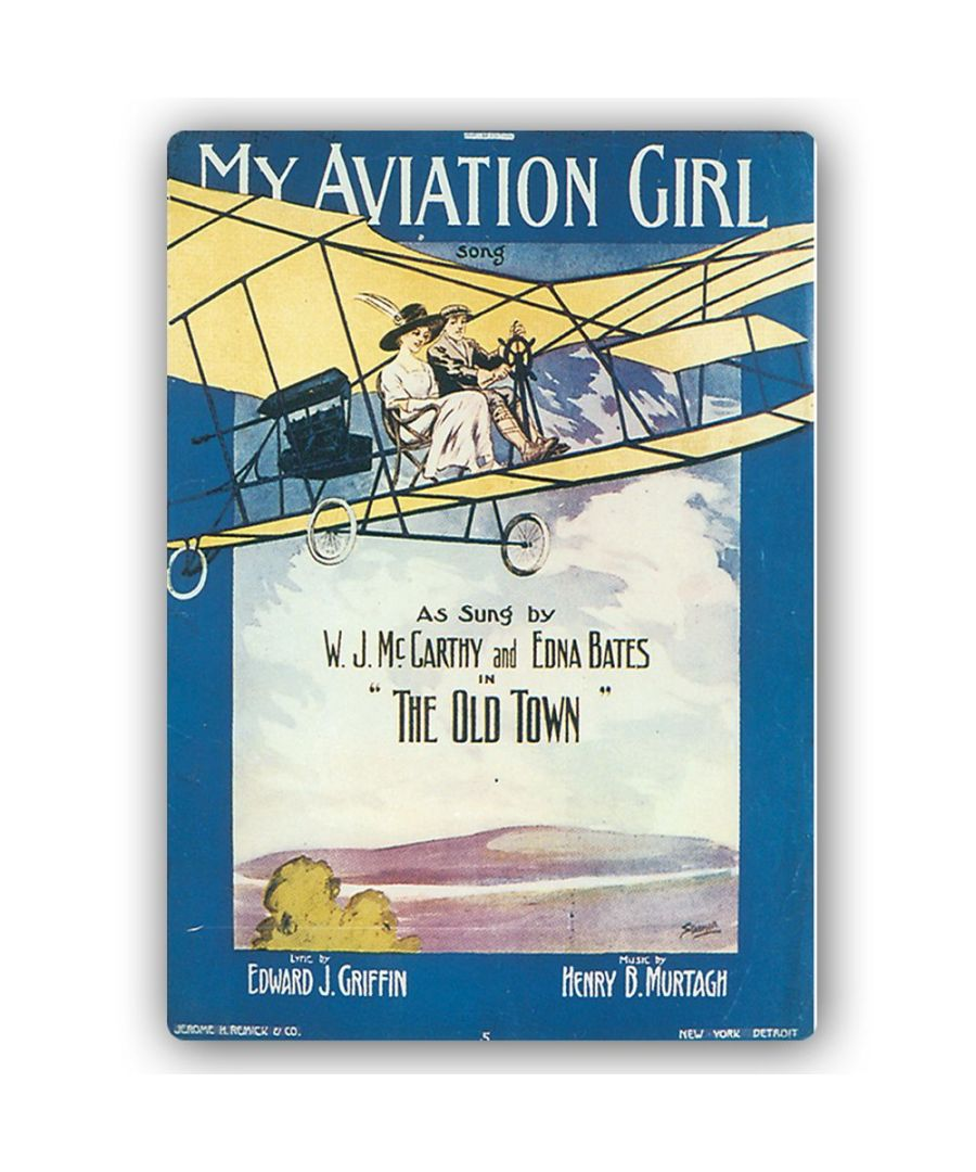 Image for Vintage Music Cover - Metal Print  - My Aviation Girl
