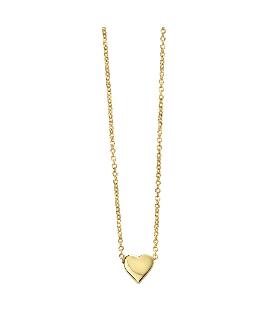 Image for Beginnings Gold Plated 925 Sterling Silver Heart Charm Necklace of Length 42-44cm