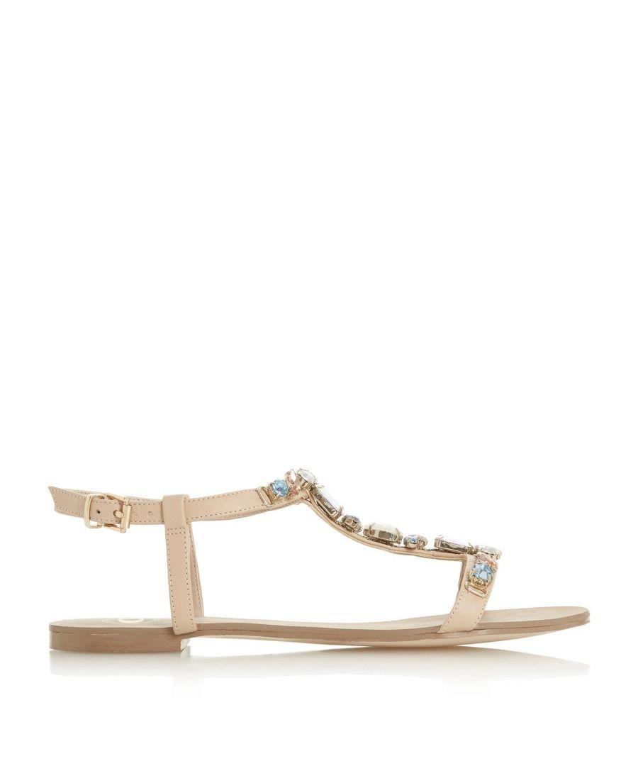 Image for Dune Ladies NATALLY Jewel Embellished T-Bar Sandals