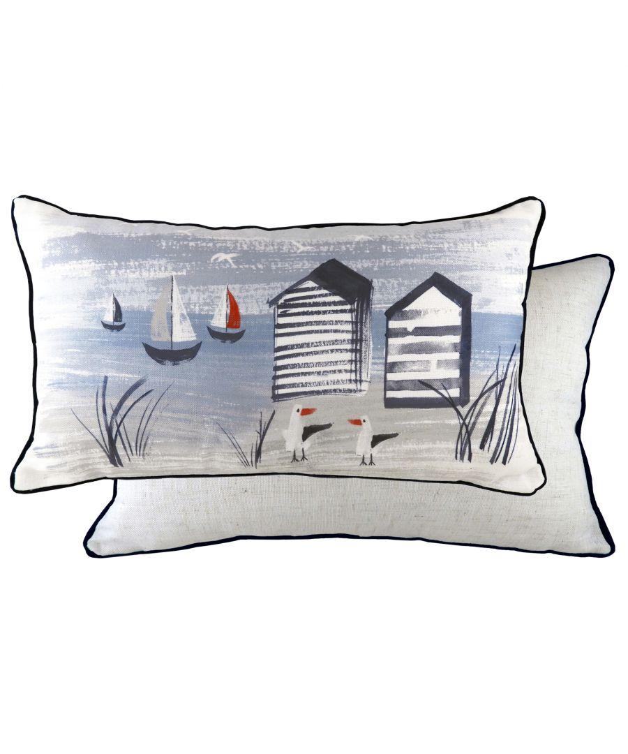 Image for Nautical Beach Huts Cushion