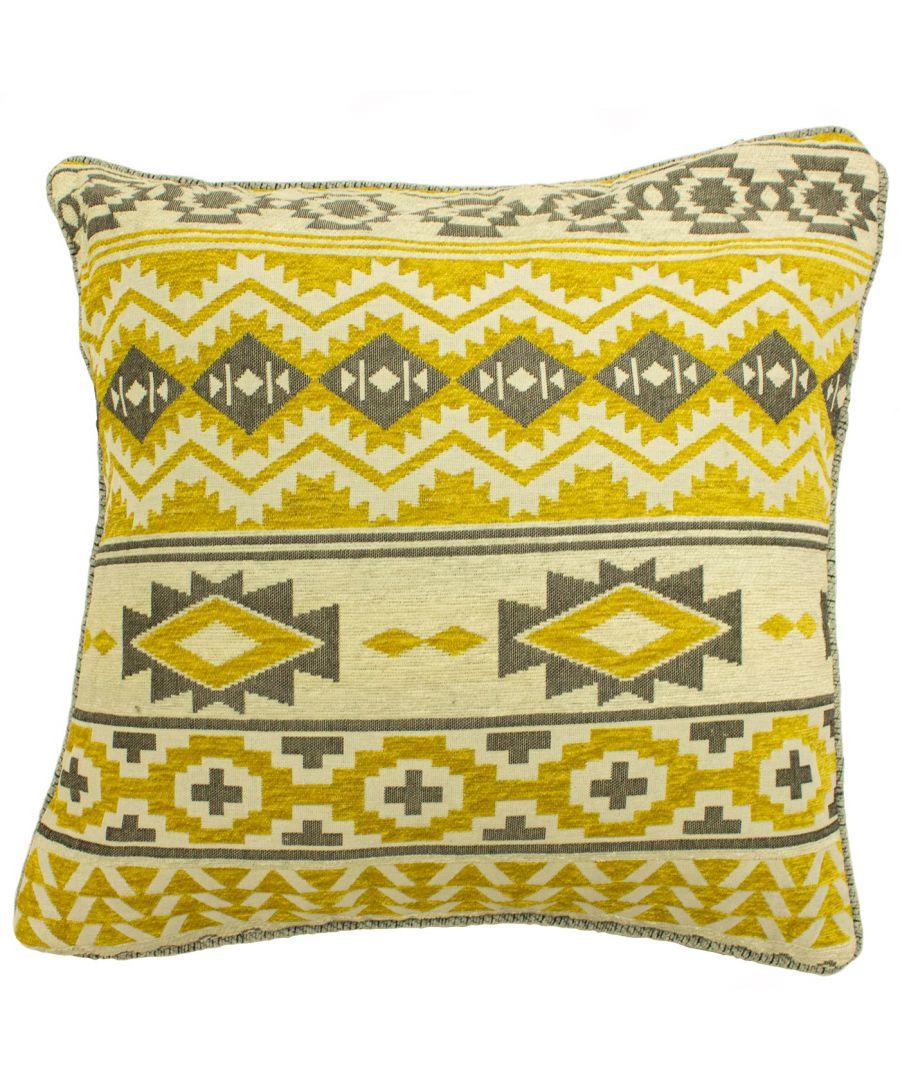 Image for Navajo 45X45 Poly Cushion Grey/Ochr