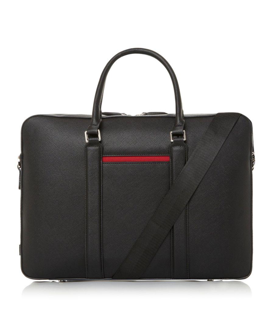Image for Dune Mens NEBRASKA Saffiano Briefcase