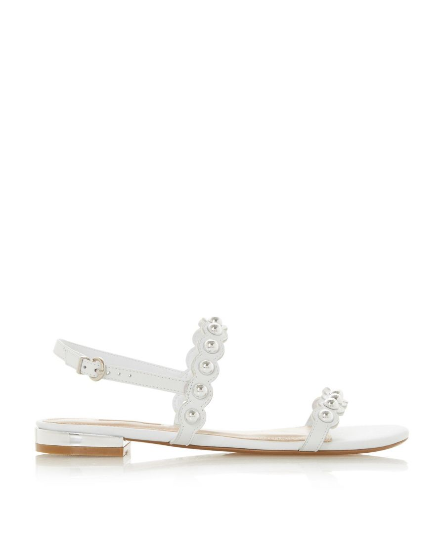 Image for Dune Ladies NEELLA Stud Embellished Scalloped Trim Sandals