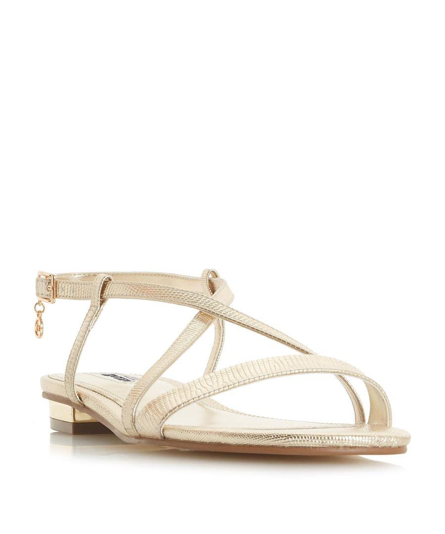 Image for Dune Ladies NENNA Cross Strap Flat Sandal