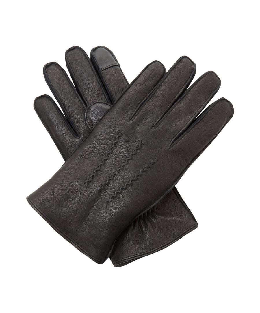 Image for Dune Mens NENZO Borg Lined Leather Gloves