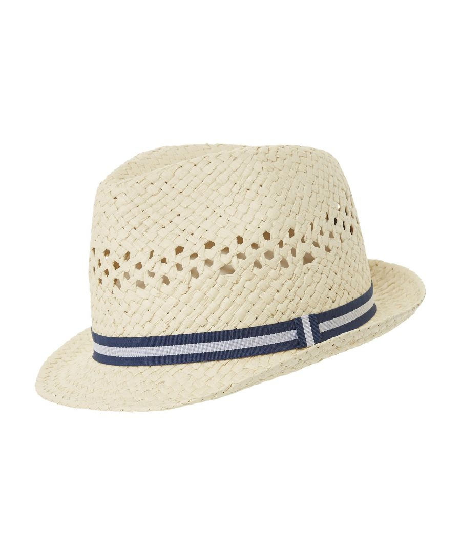 Image for Dune Mens NESTER Tape Detail Trilby Hat