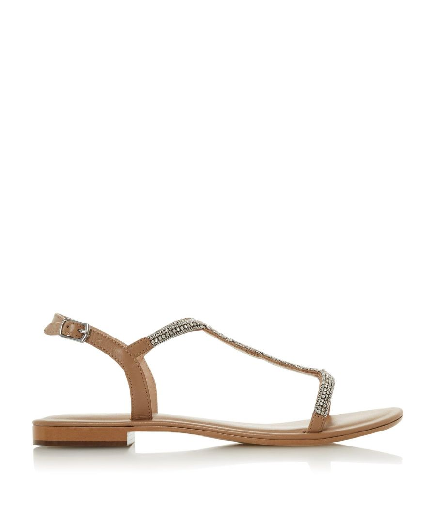 Image for Dune Ladies NETTYS Embellished T-Bar Sandals