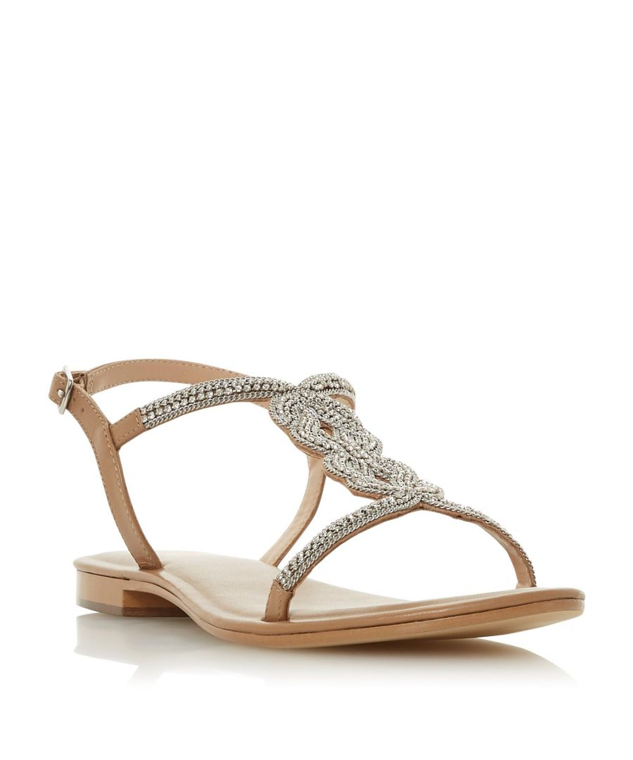 Image for Dune Ladies NETTYS Embellished T-Bar Sandal