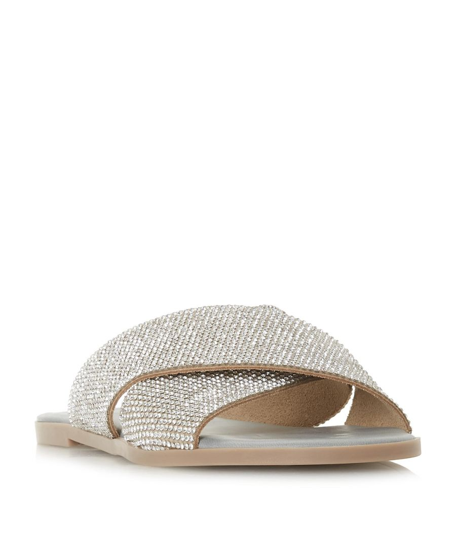 Image for Dune Ladies NEVADAA Cross Strap Diamante Sandal