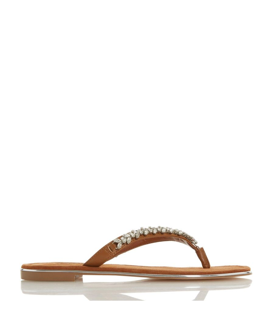 Image for Dune Ladies NEWBEY Diamante Toe-Post Sandals