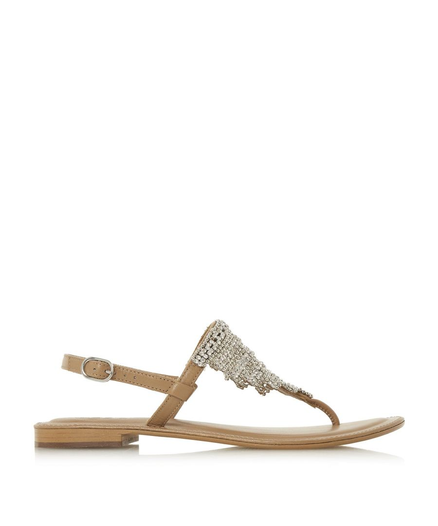 Image for Dune Ladies NEWELE Diamante Toe-Post Flat Sandals
