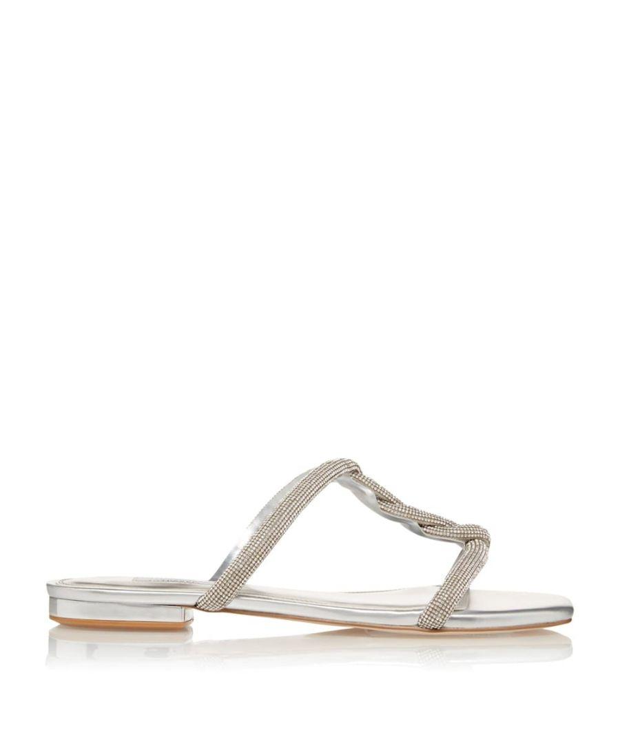 Image for Dune Ladies NEWLEY Sparkly Twist Strap Flat Sandals