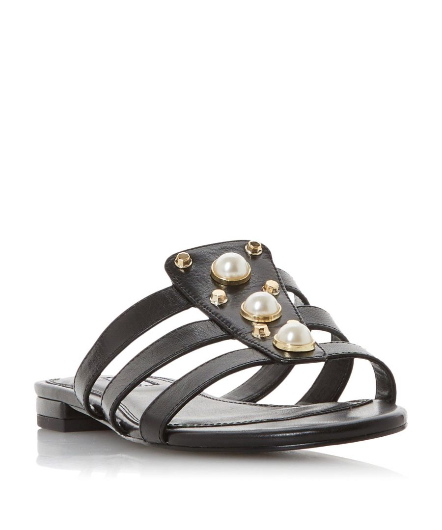 Image for Dune Ladies NIKOLE Embellished Pearl and Stud Flat Sandal