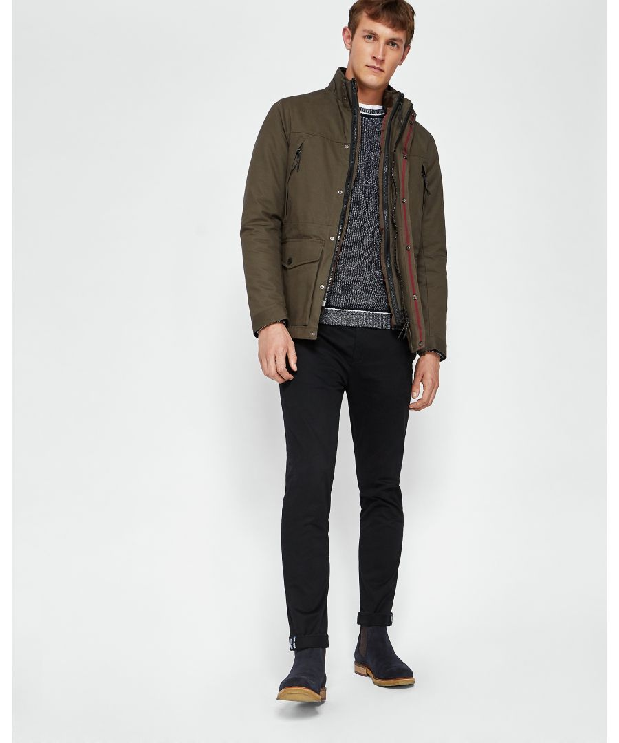 Image for Ted Baker Nilson Long-Sleeved Quilted Field Jacket, Khaki