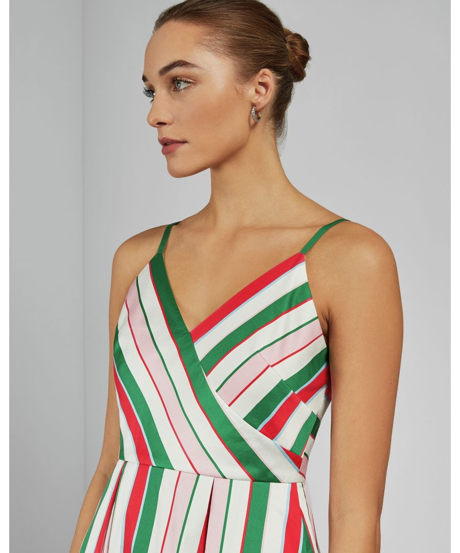 Image for Ted Baker Noriie Striped Bodice Detail Drs, White
