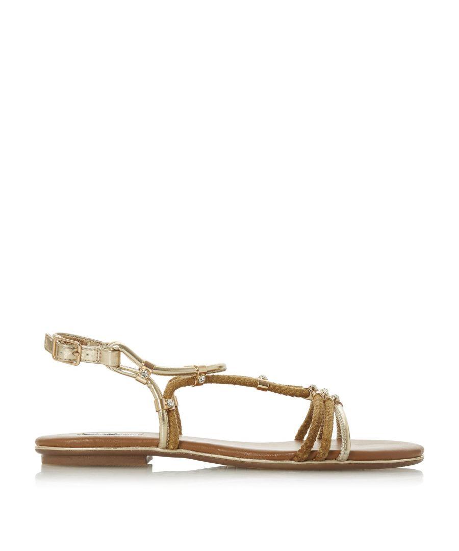 Image for Dune Ladies NOVAA Braided Diamante Flat Sandals