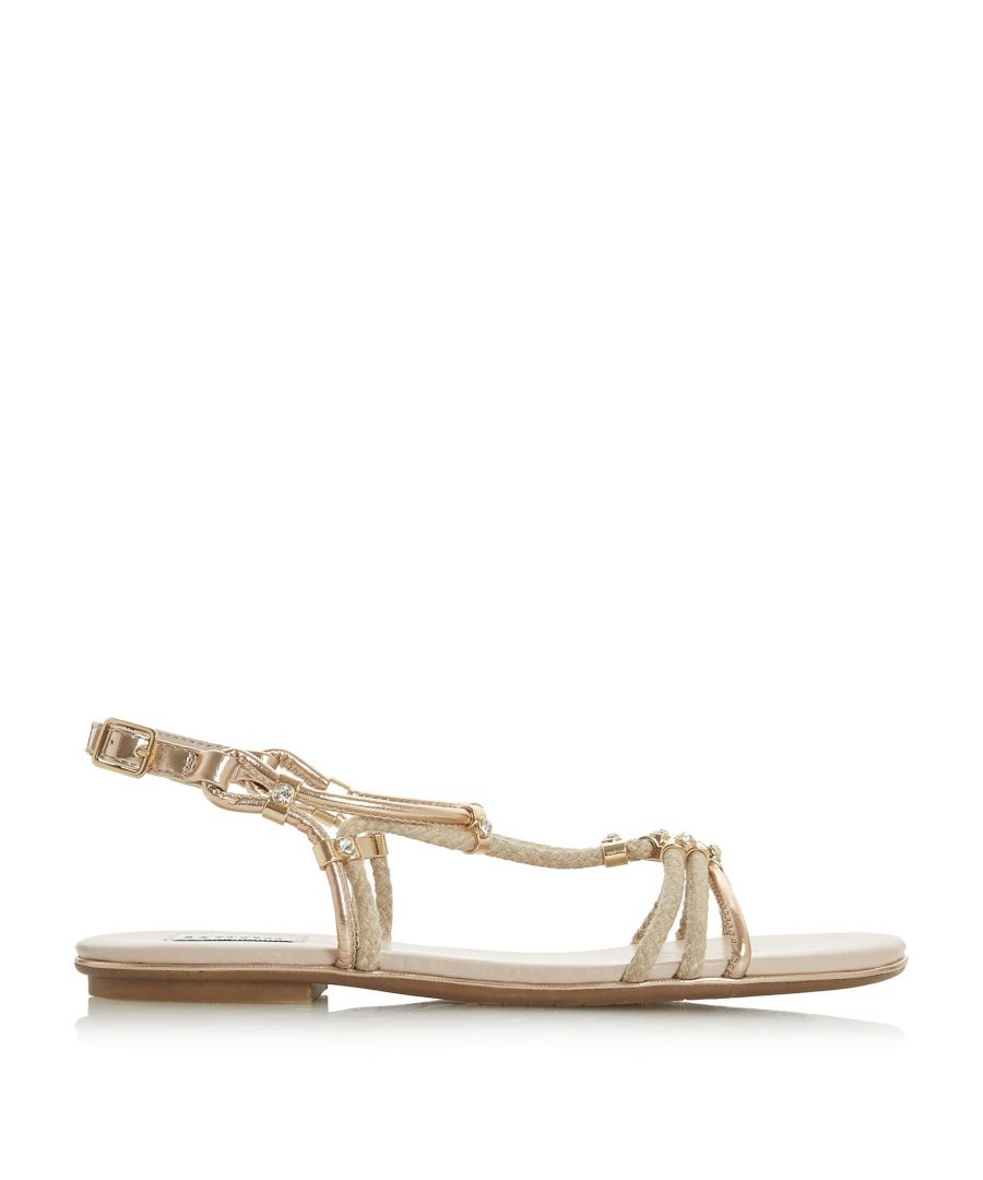 Image for Dune Ladies NOVAA Braided Diamante Flat Sandal
