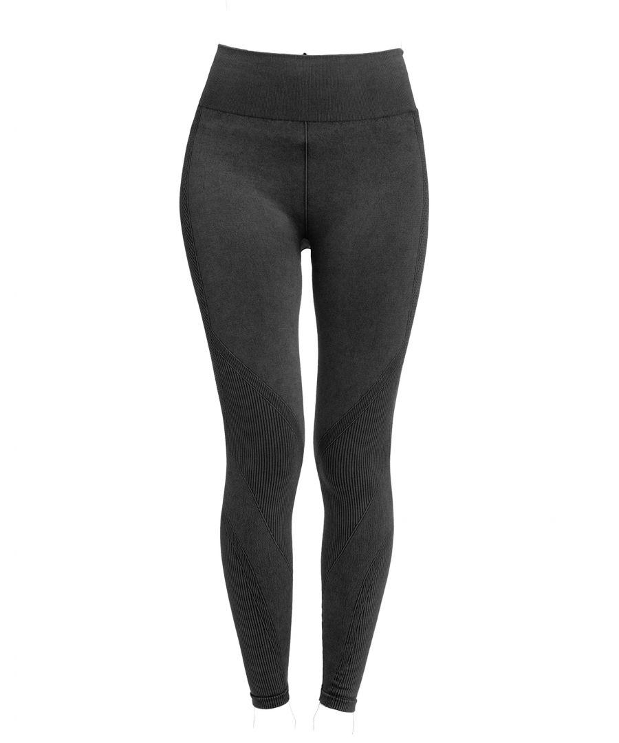 Image for Black Denim Look Seamless Legging