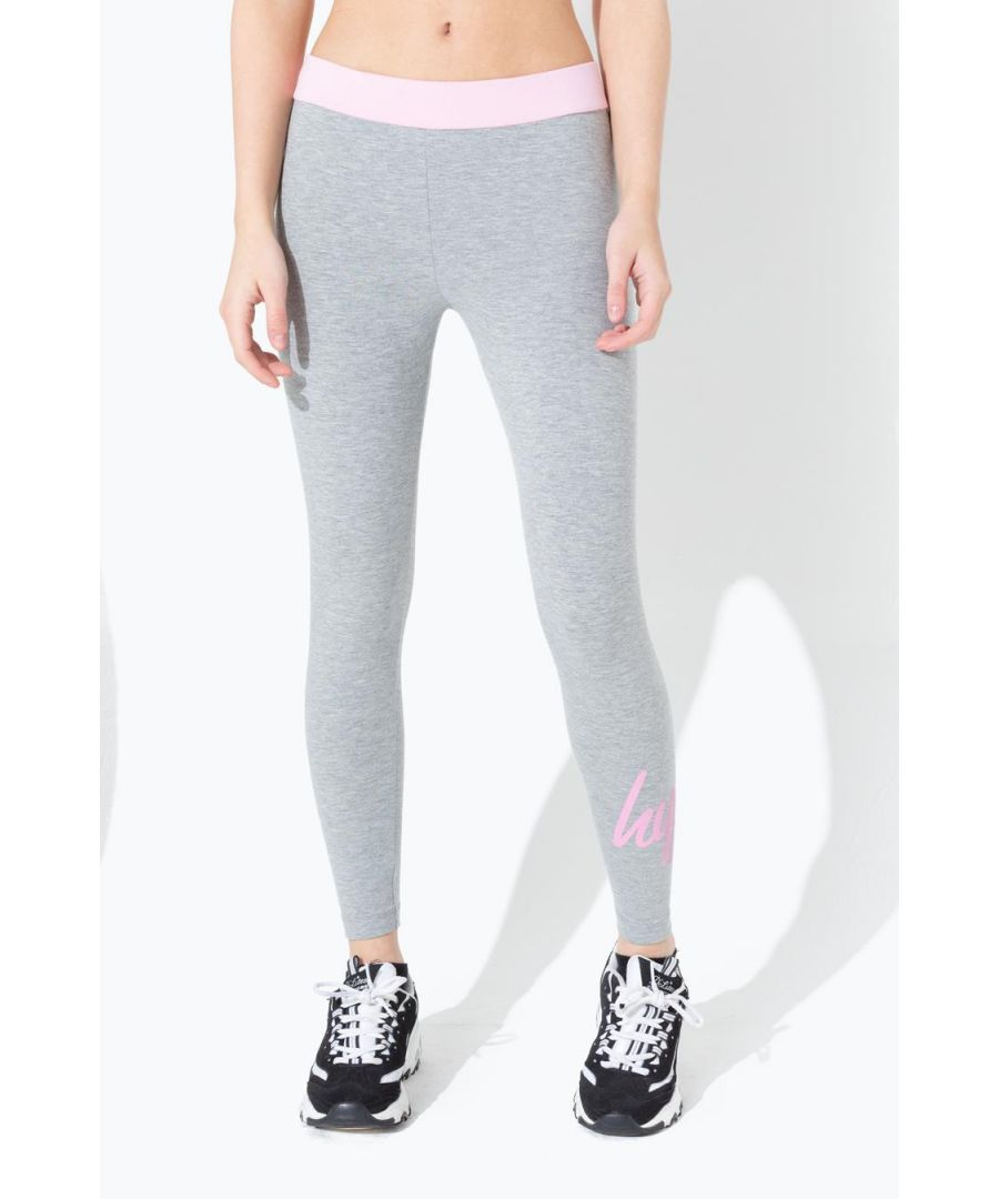 Image for Hype Grey Contrast Waist Kids Leggings
