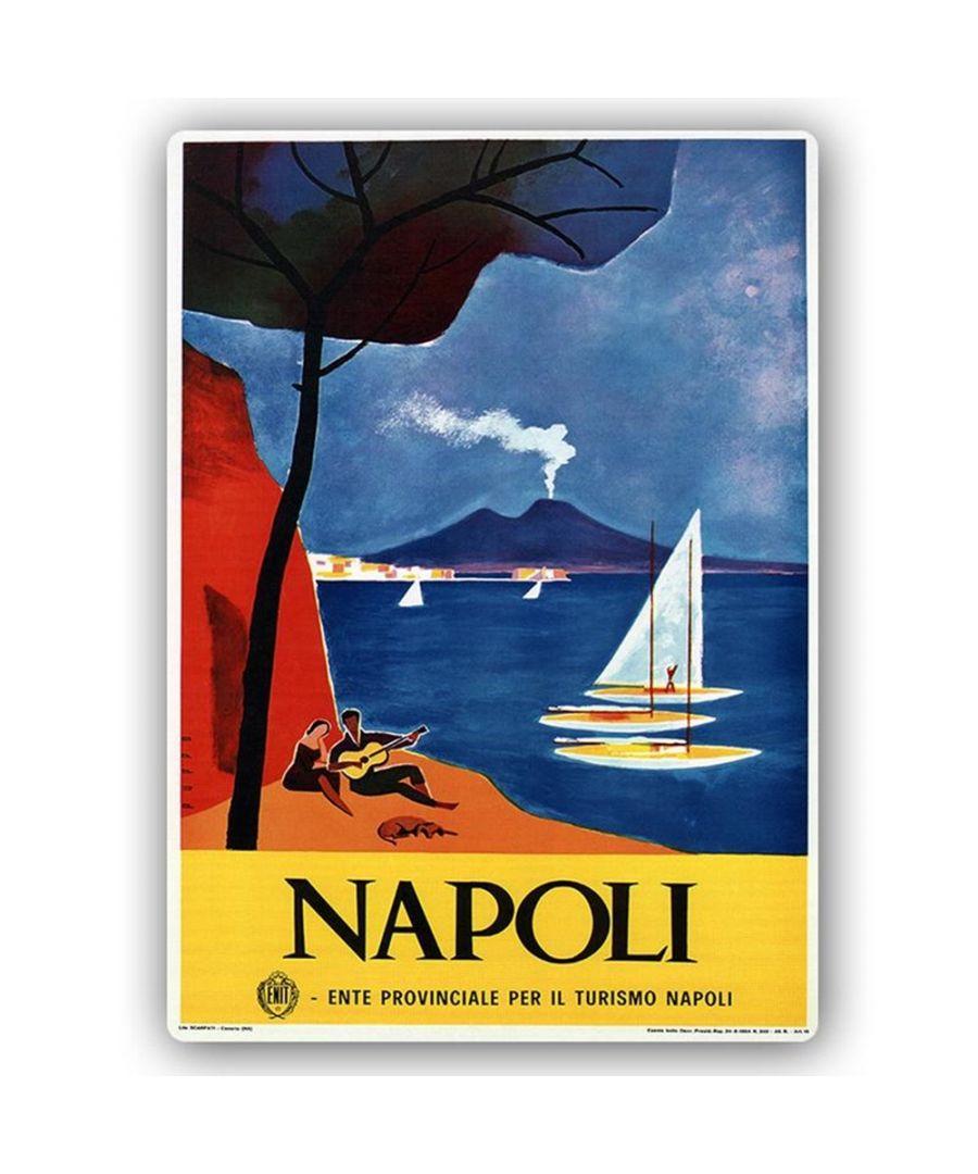 Image for Vintage Tourist Poster - Metal Print  - Napoli