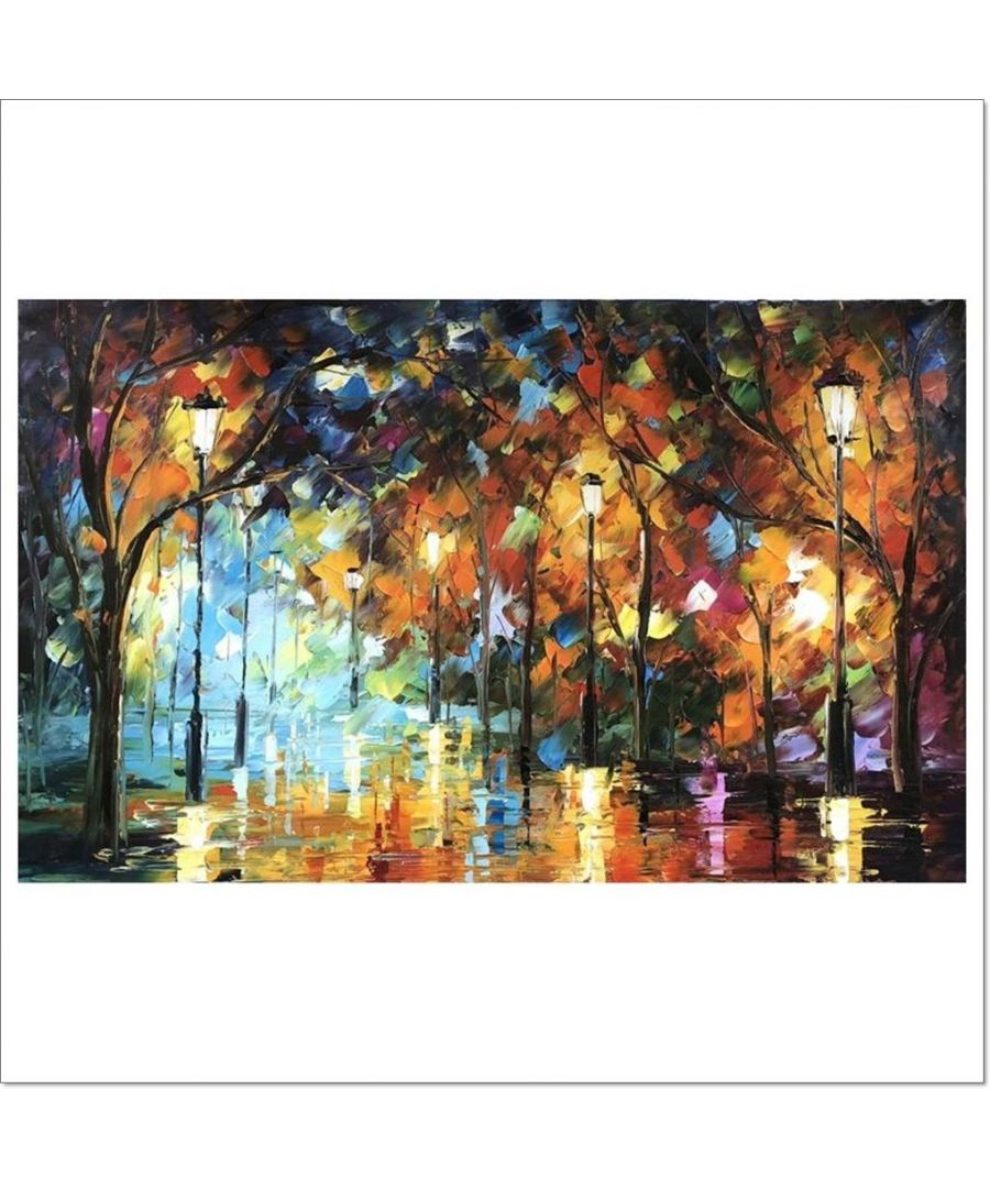 Image for Oil Painting - Night Bathed In Light Cm. 60x100
